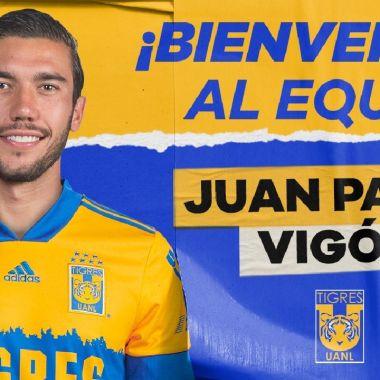 Liga BBVA MX_ Juan Pablo Vigón es nuevo refuerzo de Tigres