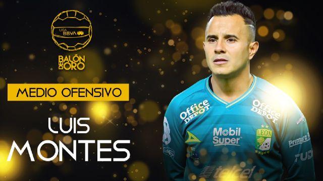 Liga BBVA MX: Luis Montes se lleva el Balón de Oro 2021 como mejor medio ofensivo