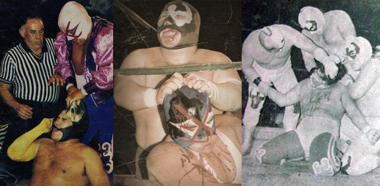 Los Brazos Villanos Mascara Enfrentamiento ring de lucha libre