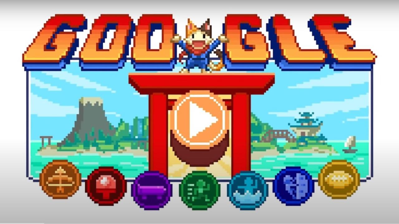 Tokyo 2020 Google Doodle videojuego