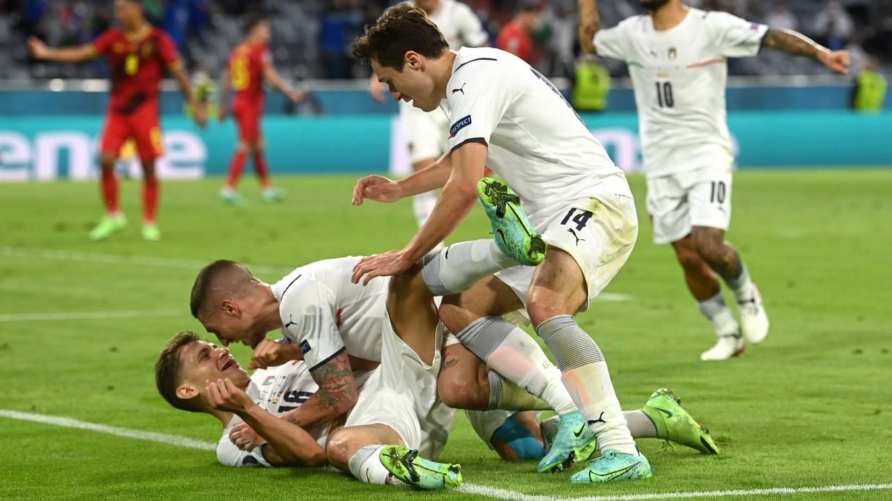 Italia vence Bélgica Eurocopa 2020