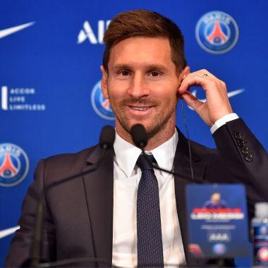 Leo Messi con el PSG paris presentacion