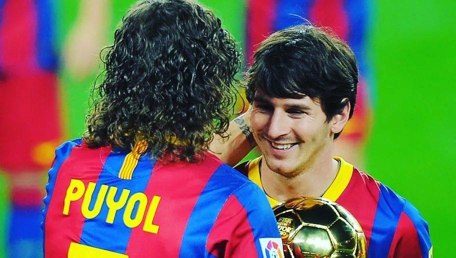 Carles Puyol messi barcelona despedida