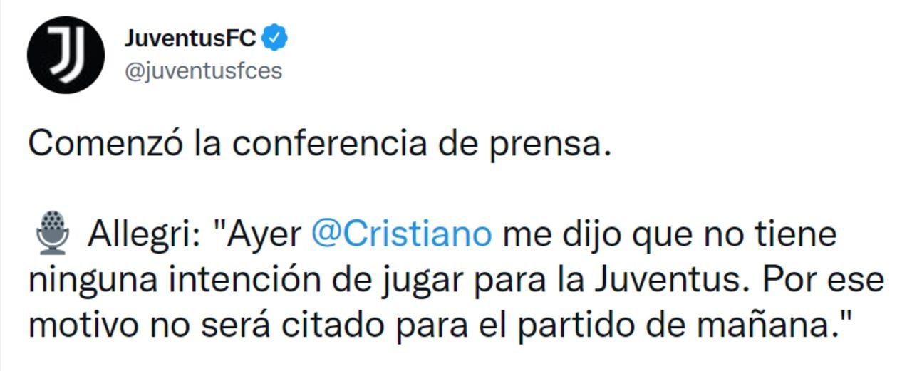 Cristiano Ronaldo salida Juventus