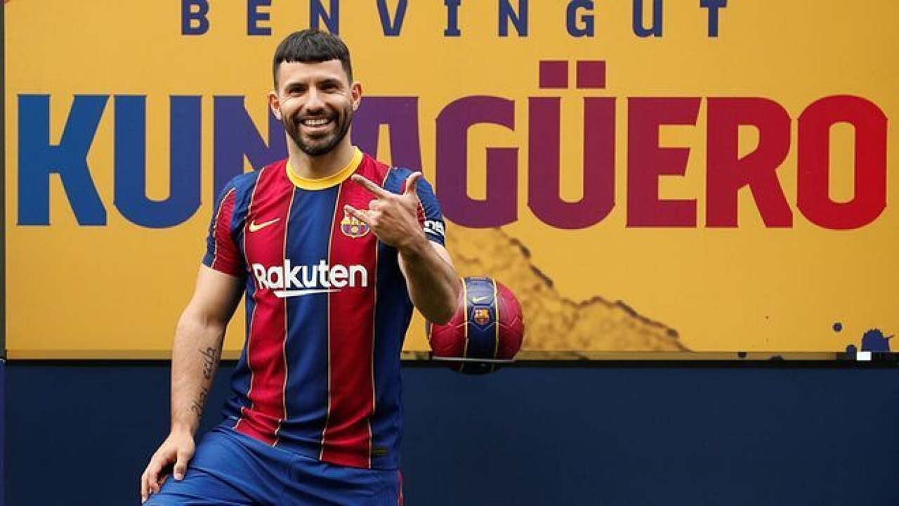 Lionel Messi Kun Agüero Barcelona