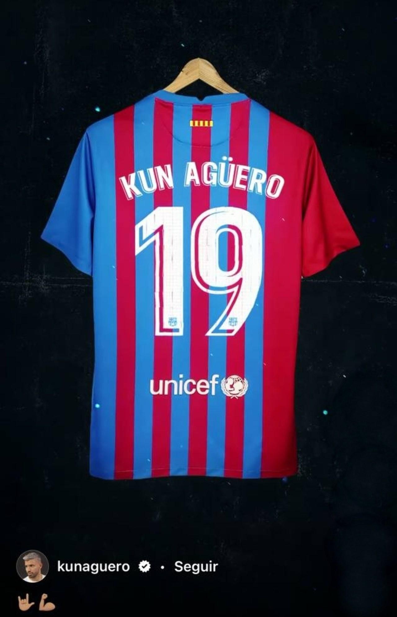 FC Barcelona sergio Kun Agüero numero dorsal