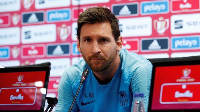 Leo Messi barcelona salida conferencia