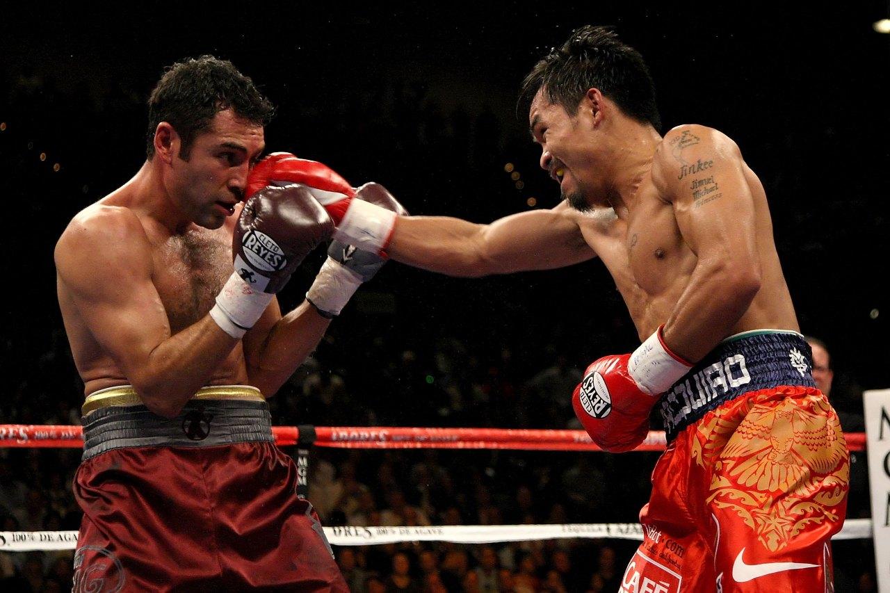 Manny Pacquiao pelea Óscar de la Hoya