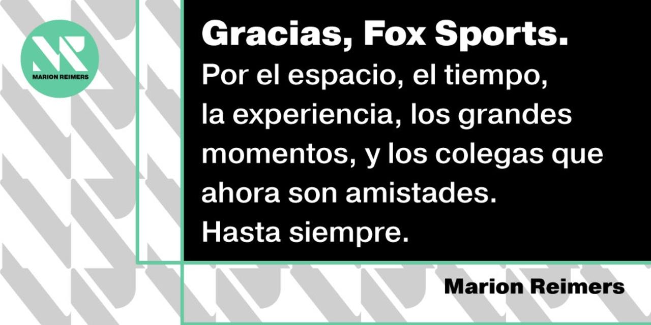 marion reimers fox sports renuncia