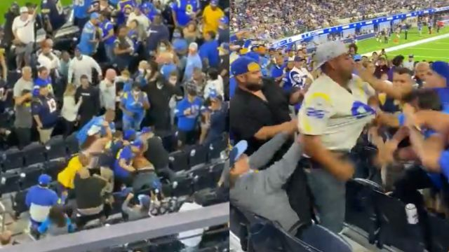 NFL pelea rams chargers bronca