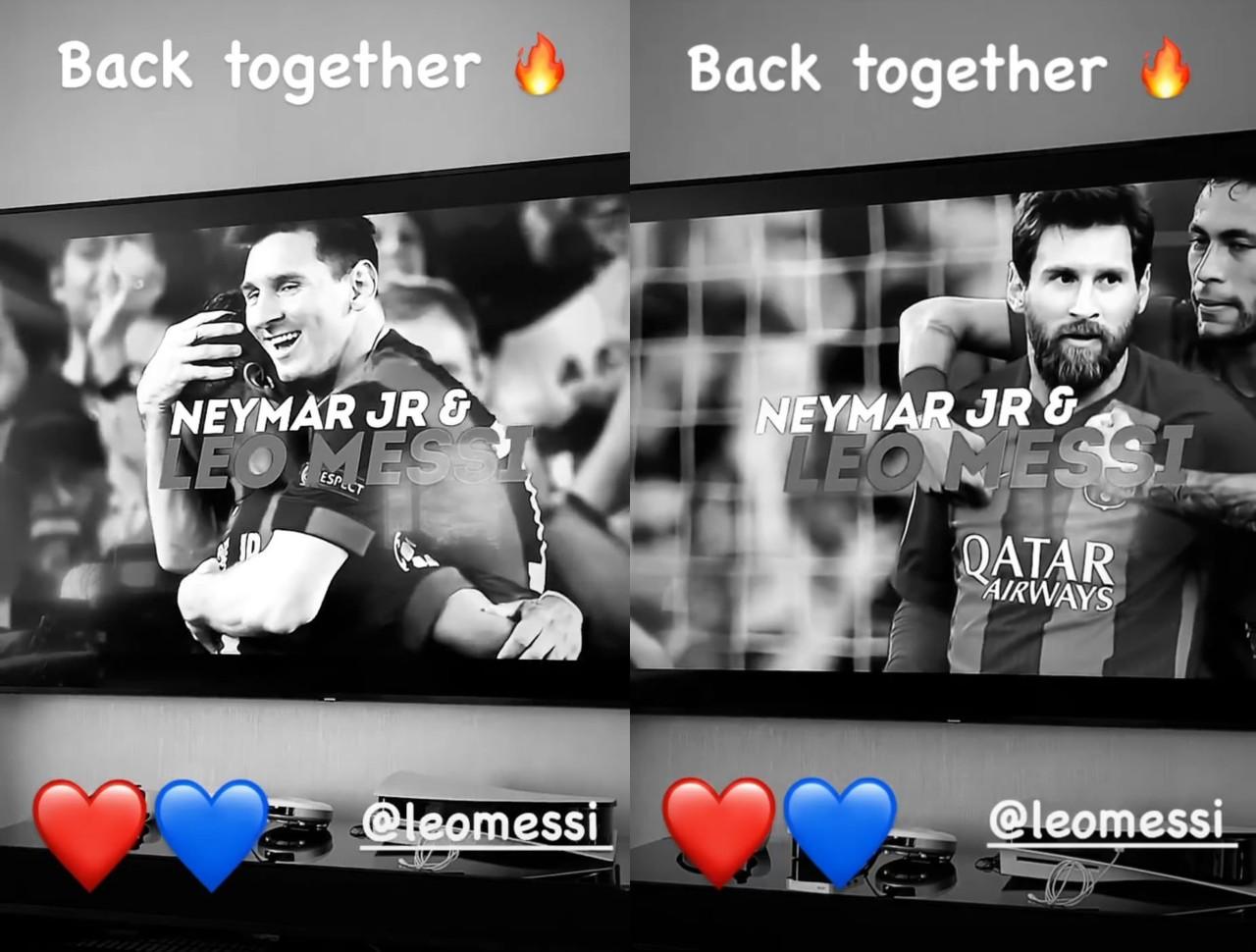 Leo Messi Neymar bienvenida PSG