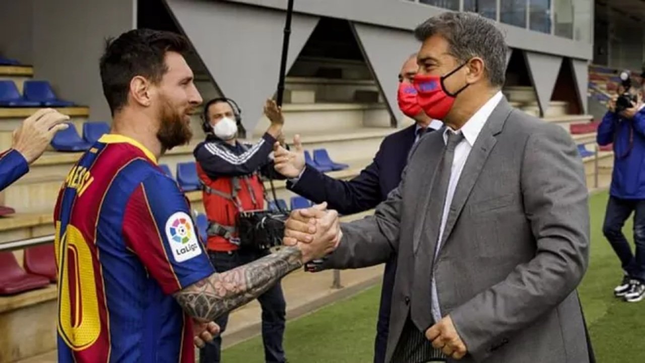 Lionel Messi Joao Laporta