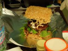 Ramen Burger in Progress3