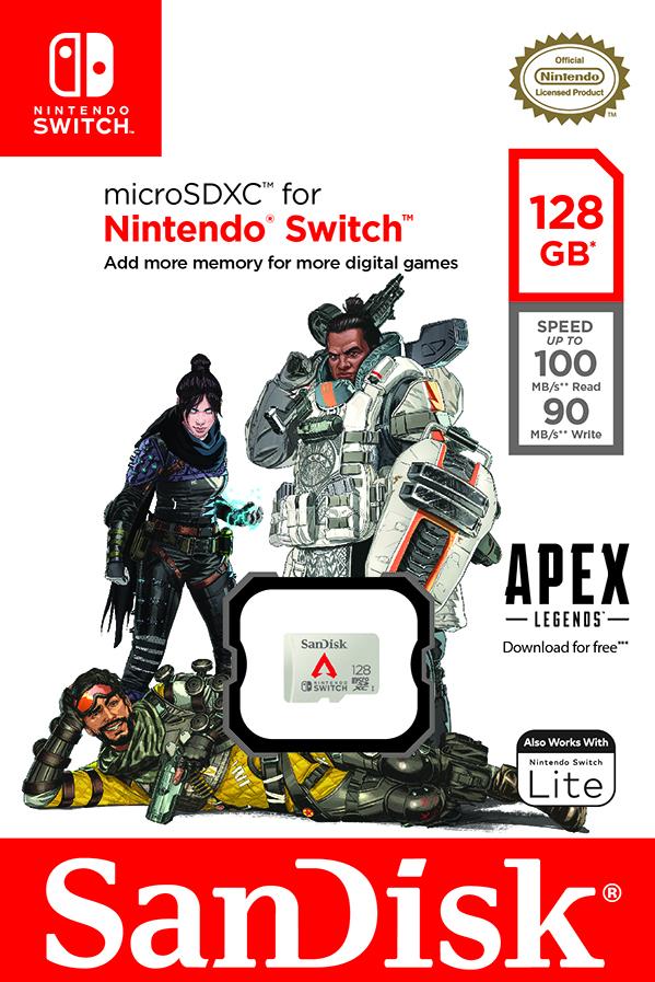 PKG: SanDisk microSD UHS-I Card for Nintendo Switch, 128GB, AM