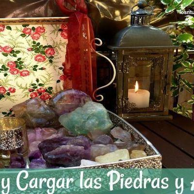 Limpiar y Cargar Piedras, amuletos y talismanes.