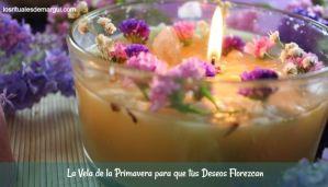 la vela de la primavera para que tus deseos florezcan