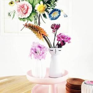 Vaasinspiratie vaasje met oogjes met losse bloemen