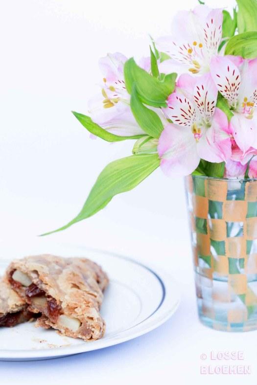 lossebloemen.nl hoe maak ik een vegan appelflap