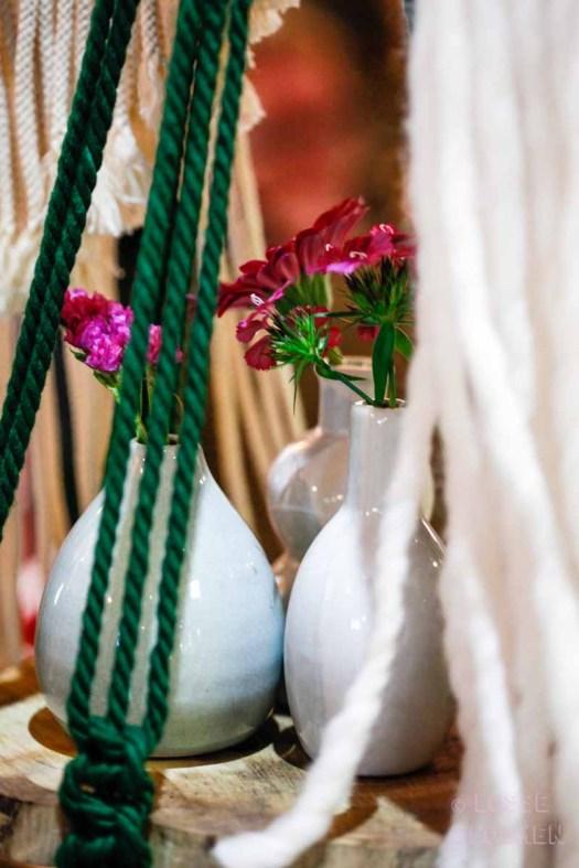 swanmarket van nelle fabriek Rotterdam peacockandpeony macramé hangers met losse bloemen