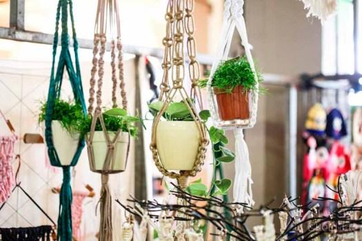 swanmarket van nelle fabriek Rotterdam peacockandpeony macramé hangers met planten