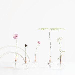 Scandinaviaform Glasilium vaas voor losse bloemen helder van website &klevering