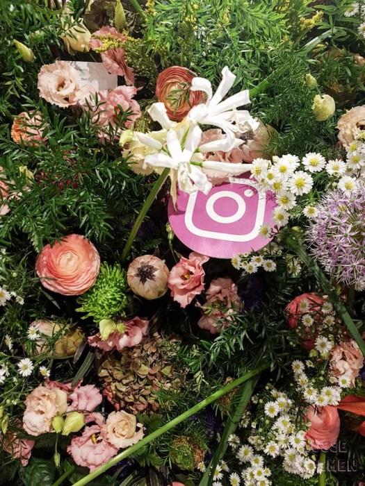 Instagram en bloemenmuur