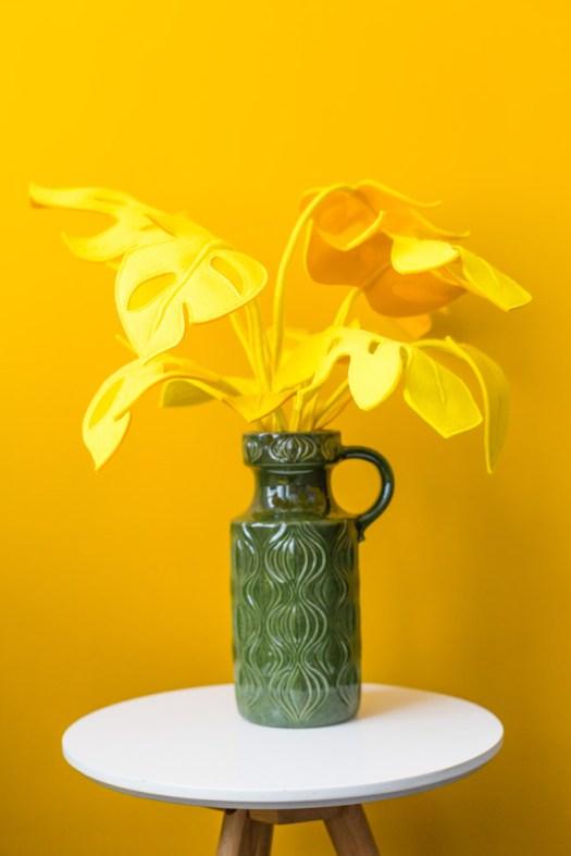 Daphne Engelke lossebloemen blog bloemen van vilt! Monstera