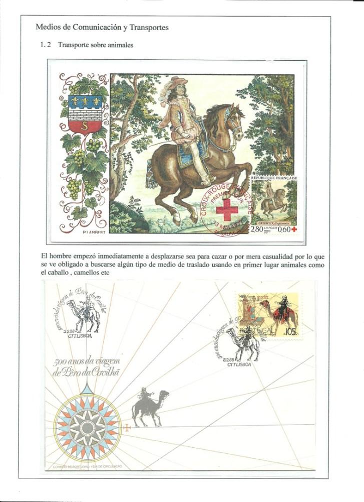 MEDIOS DE COMUNICACION Y TRANSPORTES - HISTORIA DE LA COMUNICACION TERRESTRE. FILATELIA (6/6)