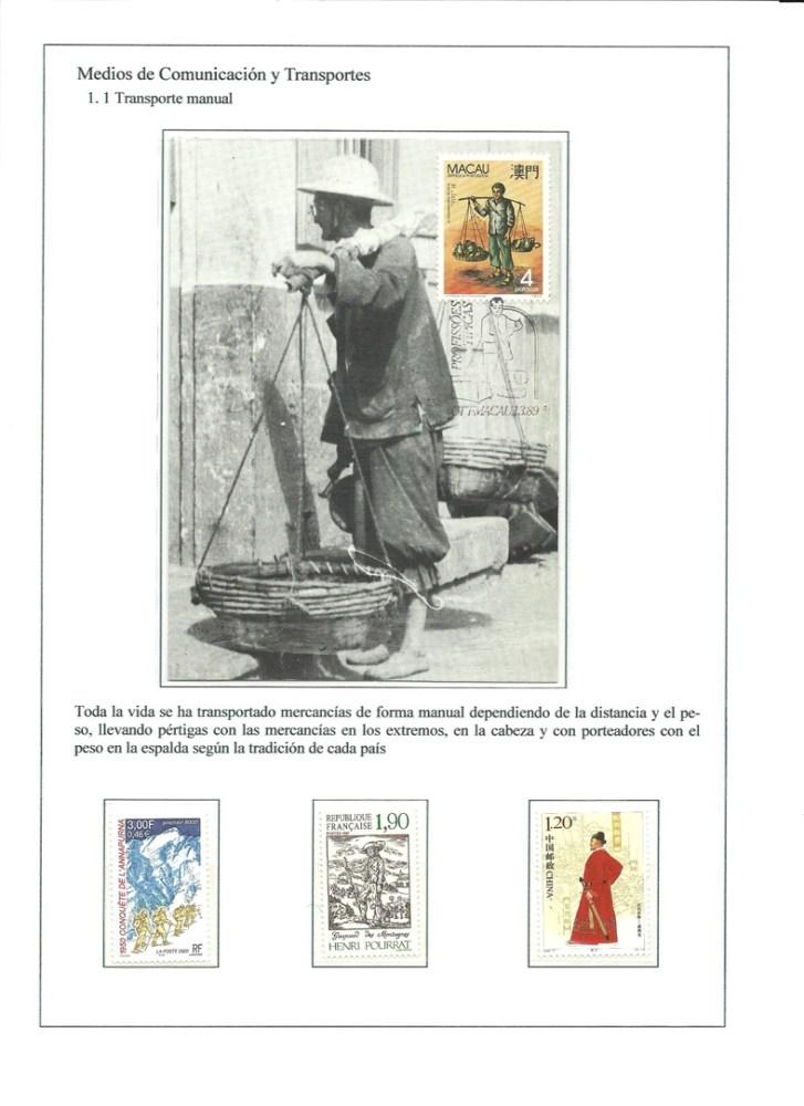 MEDIOS DE COMUNICACION Y TRANSPORTES - HISTORIA DE LA COMUNICACION TERRESTRE. FILATELIA (2/6)