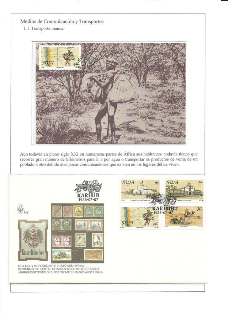 MEDIOS DE COMUNICACION Y TRANSPORTES - HISTORIA DE LA COMUNICACION TERRESTRE. FILATELIA (4/6)