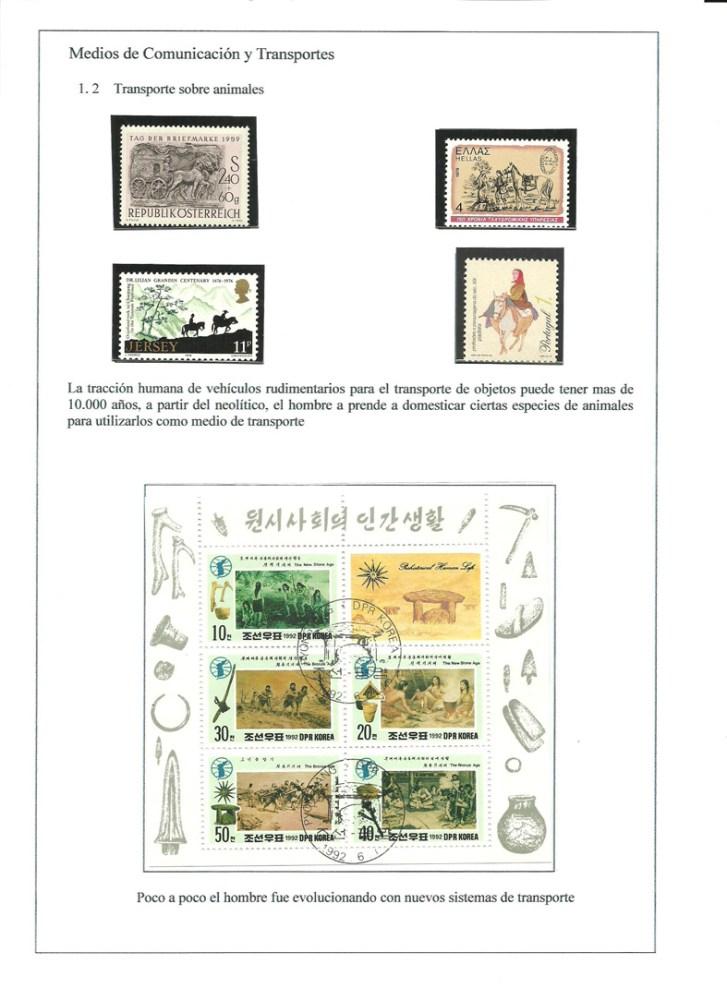 MEDIOS DE COMUNICACION Y TRANSPORTES - HISTORIA DE LA COMUNICACION TERRESTRE. FILATELIA (5/6)