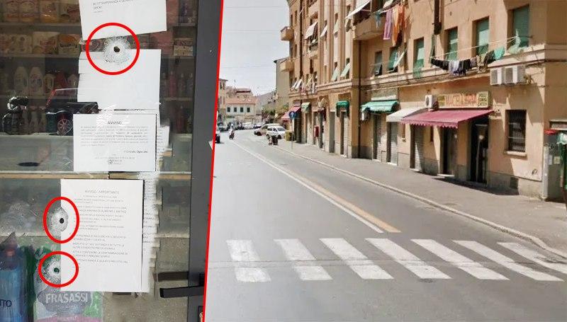 atto vandalico avvenuto questa notte in via Garibaldi.