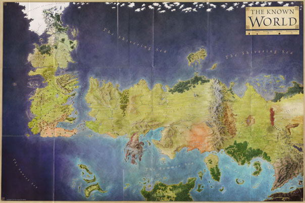 The Known World - The lands of Ice and Fire