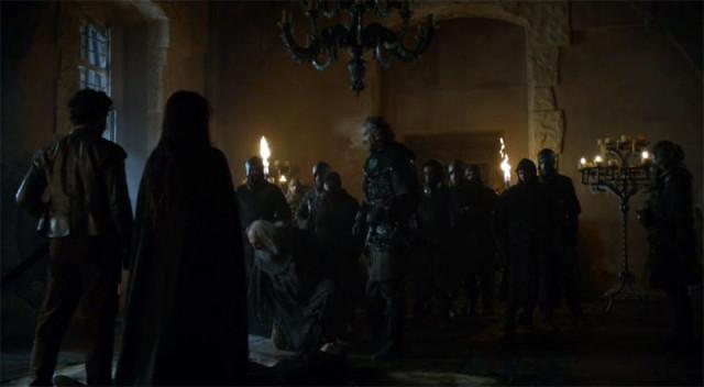 Robb y Lord Karstark cara a cara