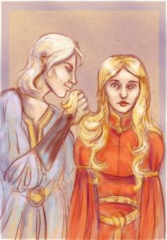 Aerys and Joanna by ~kethryn on deviantART