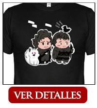 camiseta jon y sam juego de tronos