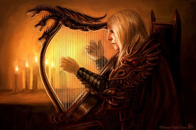 Rhaegar's Harp by feliciacano on deviantART