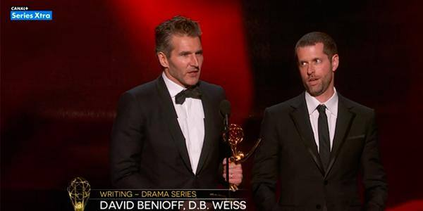 Benioff y Weiss recogen su Emmy