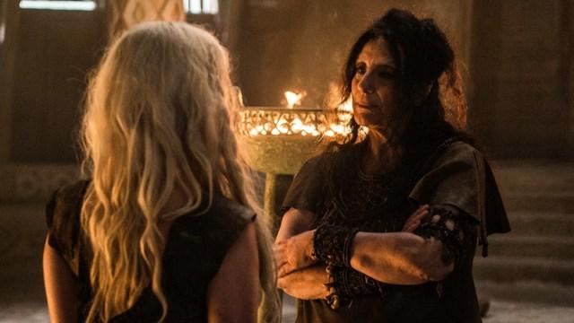 Daenerys y la Viuda Negra