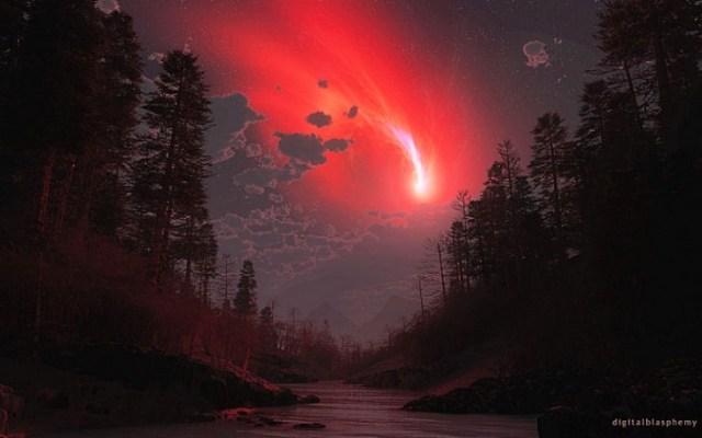 El cometa rojo