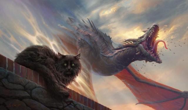 Balerion, el terror negro, y un dragón