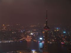 Blick auf Shanghai bei Nacht