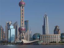 Blick auf die Skyline von Pudong