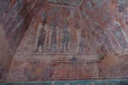 Im Inneren von Edificio 1 (Templo de las Pinturas)