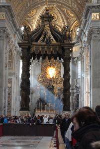 Hochaltar von San Pietro in Vaticano (Peterskirche)