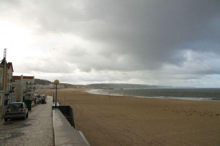 Strand und Uferpromenade von Nazaré