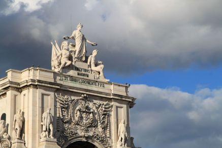Arco da Rua Augusta an der Praça do Comércio