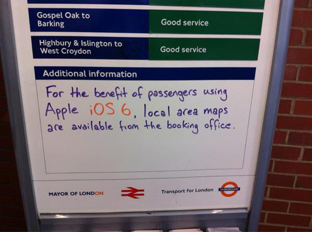 Apple Maps-gate: London's Hackney Wick Station staff see the funny side