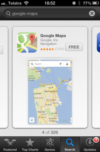 Search for Google Maps