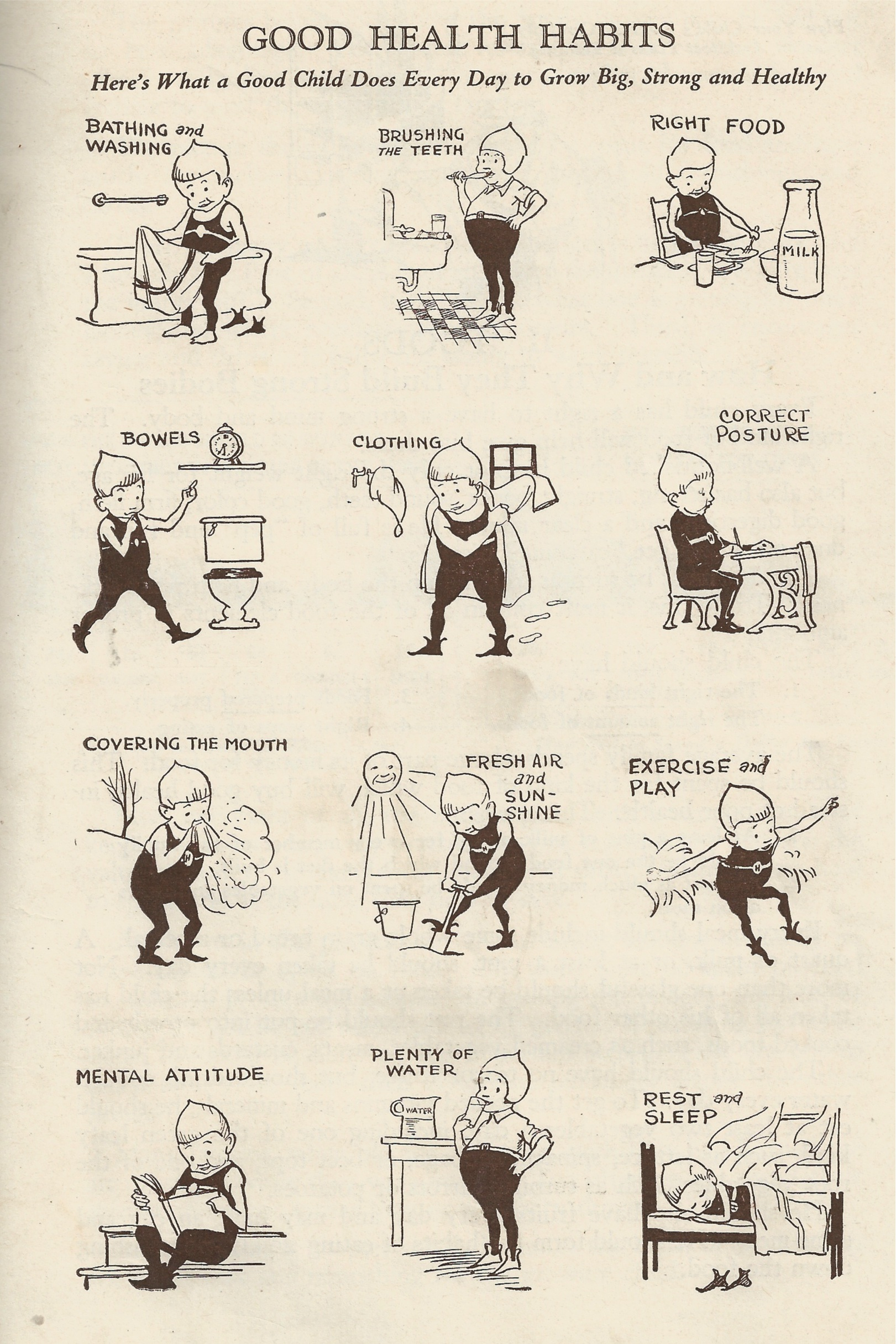 Vintage Infographic Promotes Healthy Happy Children